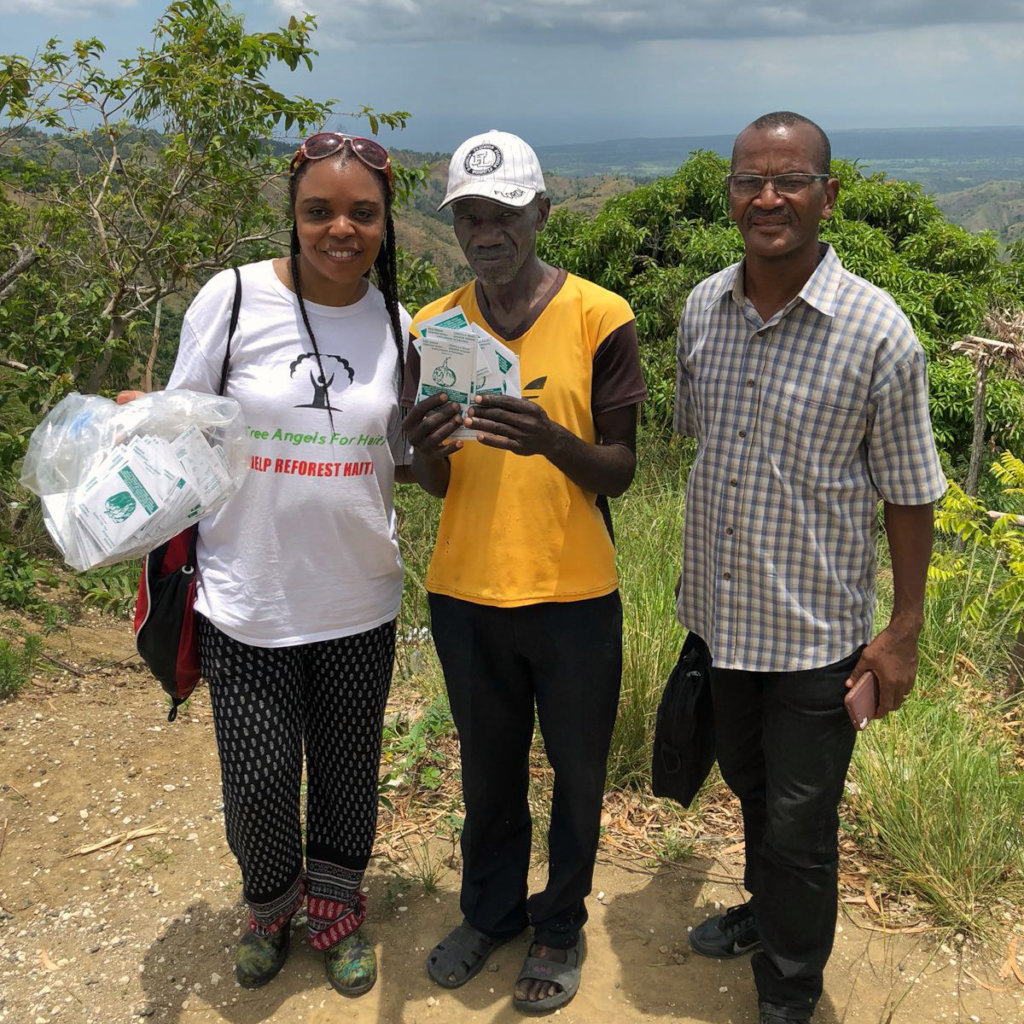 Seed Distribution with Tree Angels for Haiti