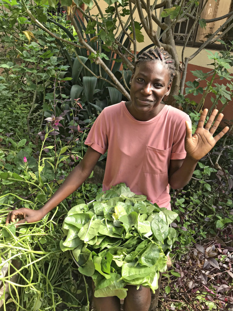 Harvesting Greens with Hope Opens Doors