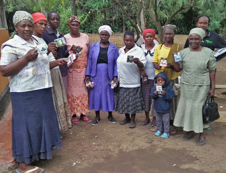 Seed distribution with Seed Savers Network Kenya