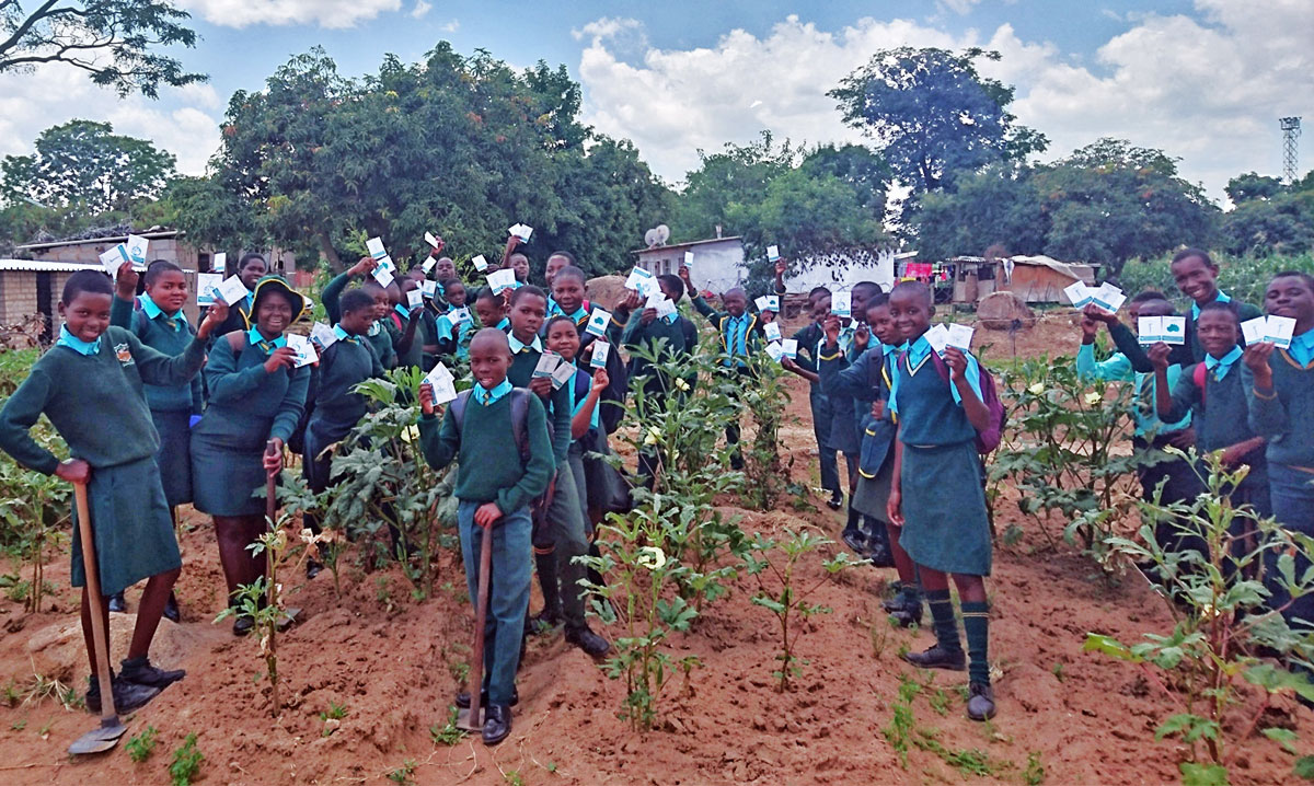 Students with Zimconserve in Zimbabwe